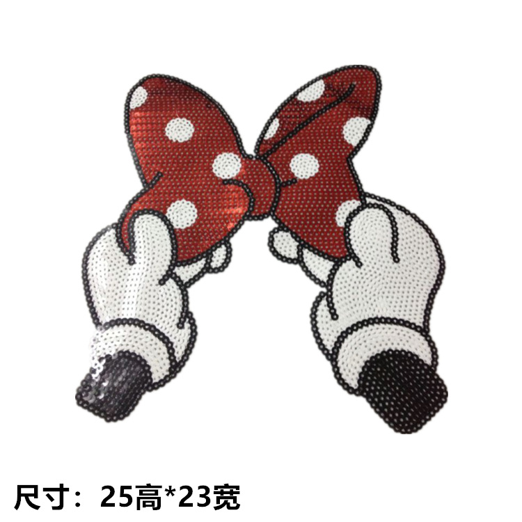 Lady Temperament Dot Bow Tie DIY Clothing Accessories Skirt Top Recommended Patch Paste