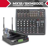 XTUGA Party audio Set UHF Wireless Microphone System / professional music mixer karaok singing Church pray speak Bible