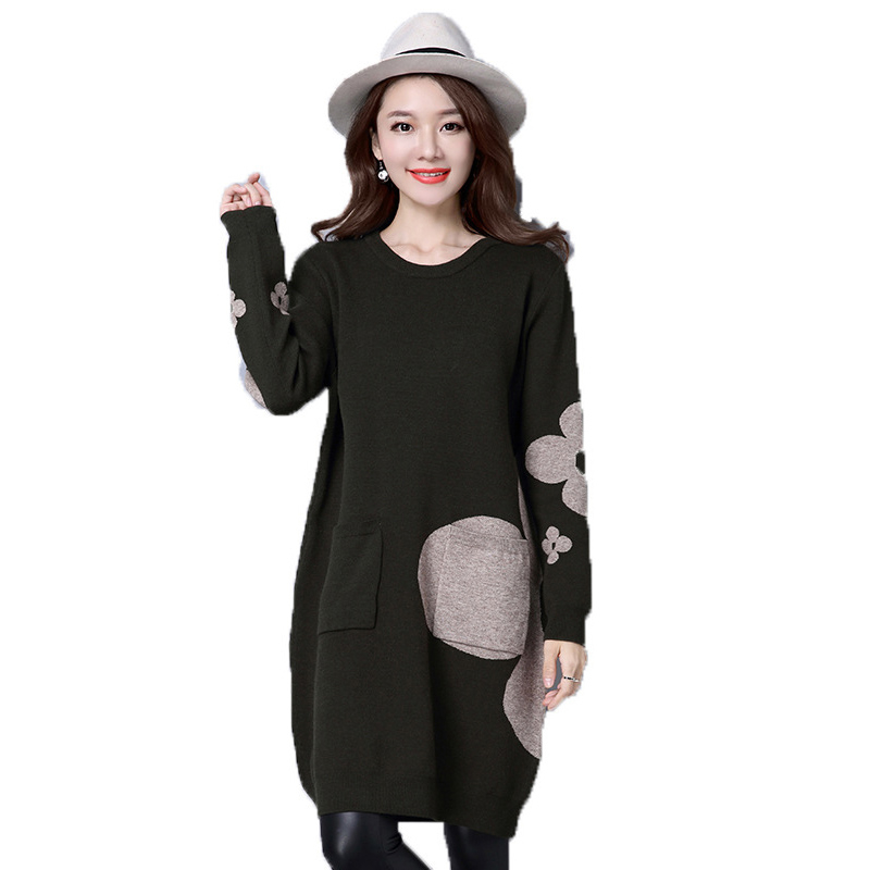 Robe Femmes Chandail Long Mode Vs291 Grande navy ink Dames Hiver O Black Taille Laine Pull Green cou Tricots Tricoté De Automne 5xl x5gIaw0q