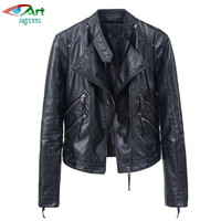 Hot Women Leather Jacket Short Section Spring Autumn Korean Slim Was Thin Women Jackets Leisure Motorcycle