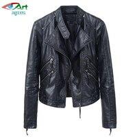 Hot Women Leather Jacket Short Section Spring Autumn Korean Slim Was Thin Women Jackets Leisure Motorcycle