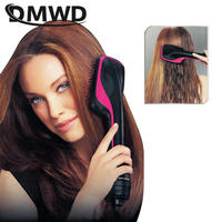 DMWD Professional hair dryer comb Negative ion blow dryer multifunctional hair comb hair filler dryer Brush dry wet artifact
