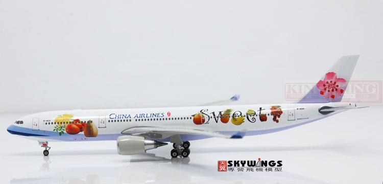 Phoenix 10567 Taiwan China Aviation B-18311 A330-300 sweet fruit commercial jetliners plane model hobby phoenix 11006 asian aviation hs xta a330 300 thailand 1 400 commercial jetliners plane model hobby