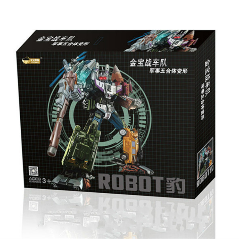 Fast shipping 6 in 1 Jinbao Oversized Bruticus WB action figure Transformation robot toy fast shipping 6 in 1 jinbao transformation upgrade edition jinbao mmc predaking feral rex figure toy