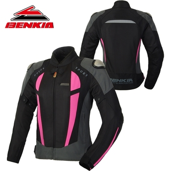 BENKIA Summer Motorcycle Jcaket Women Racing Clothes Spring and Autumn Mesh Breathable Riding Anti Wrestling Clothes JW-W68
