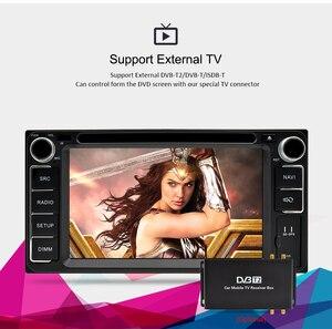 Image 4 - 유니버설 안드로이드 9.0 dvd gps 네비게이션 라디오 비디오 플레이어 스테레오 4g ram + 64g rom 2 din wifi 블루투스 헤드 유닛 차량용 멀티미디어