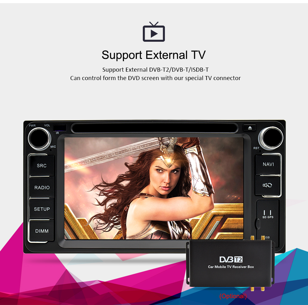 Image 4 - Universal Android 9.0 DVD GPS Navigation Radio Video Player Stereo 4G RAM+32G ROM 2 Din Wifi Bluetooth headunit Car Multimedia-in Car Multimedia Player from Automobiles & Motorcycles