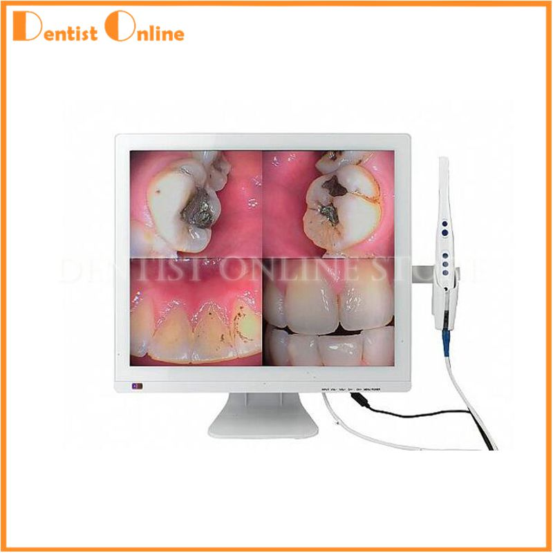 Dental Intraoral Camera M-978 (2-in-1)+self-contained 17inch LED Monitor Intra Oral Camera Free Shipping 2016 new dental md310 intra oral camera with lcd touch screen x ray film reader endoscope 3 in 1 machine