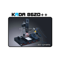 2 pcs 4 in 1 full auto IRDA Infrared soldering station KADA 862d++