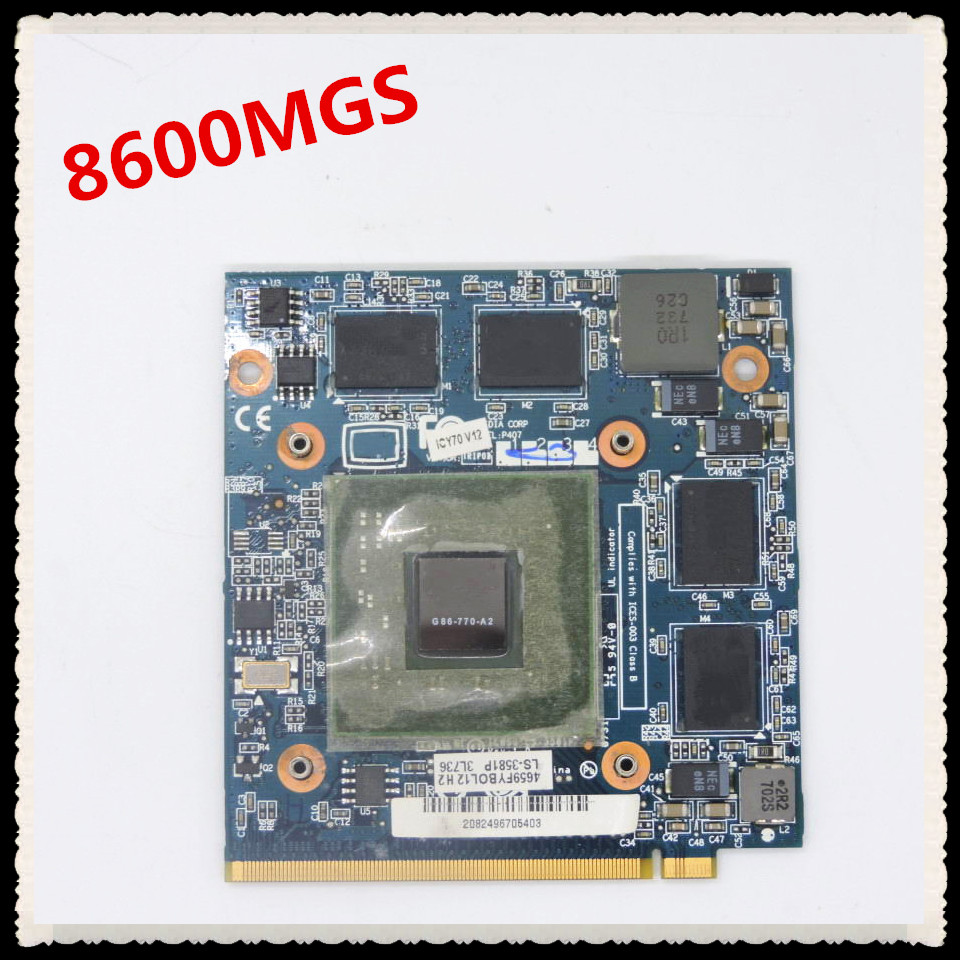 Cartão VGA GeForce 8600 8600 m GS 8600MGS G86-770-A2 DDR2 512 mb MXM II para Acer 4520 5520g 5920g 7720g 6930g Laptop