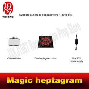 Image 5 - Room escape prop real life adventure game Magic heptagram touch the sensible points in correct sequence to unlock from JXKJ1987