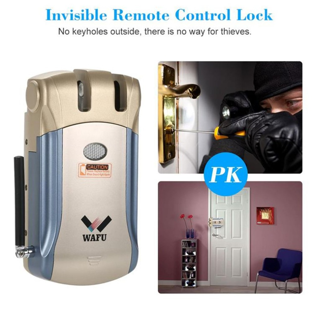Wafu 008 Smart Lock Remote control/Inside touch unlock Deadbolt Bluetooth lock without USB transferencia Spain WarehouseWafu 008 Smart Lock Remote control/Inside touch unlock Deadbolt Bluetooth lock without USB transferencia Spain Warehouse