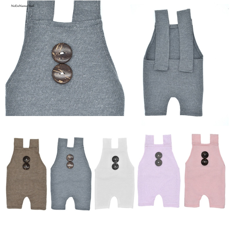 Newborn Props Boys Girls Costume Infant Buttons Romper Baby Photography Outfit