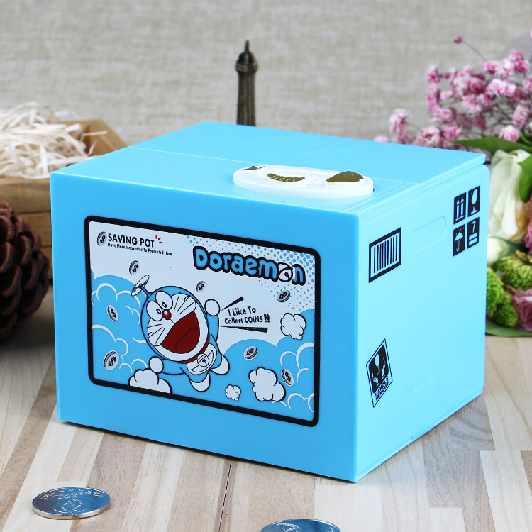 Image 4 - New 2019 Doraemon Brand New Steal Coin Piggy Bank Electronic Plastic Money Safety Box Coin Bank Money boxes-in Anti-theft Lock from Security & Protection