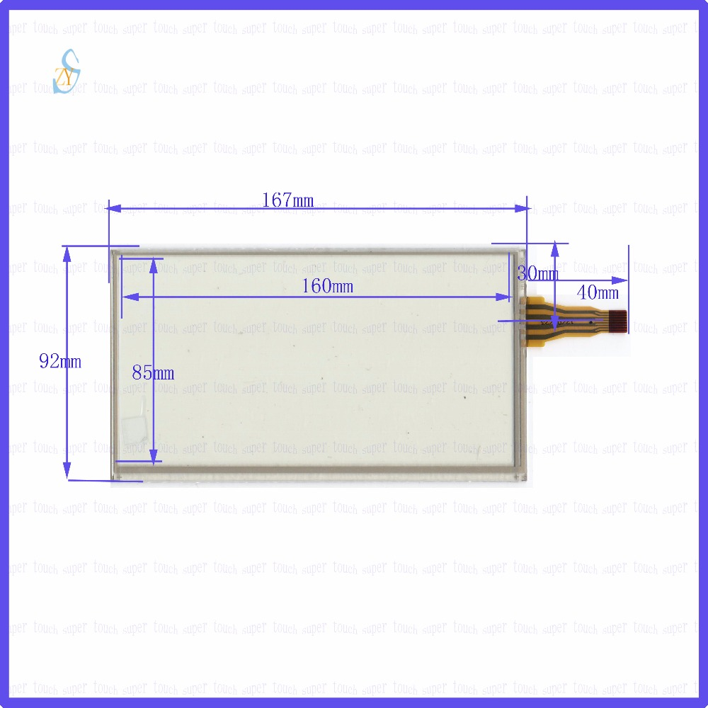 ZhiYuSun  167mm*92mm HLD-TP-2554  7inch Touch Screen glass  resistive USB touch panel the lines 4 Change 8 167*92 TOUCH SCREEN new10 4 inch 4wire resistive touch screen panel for ht104a nd0a152 ht104a 223 172mm touch panel glass