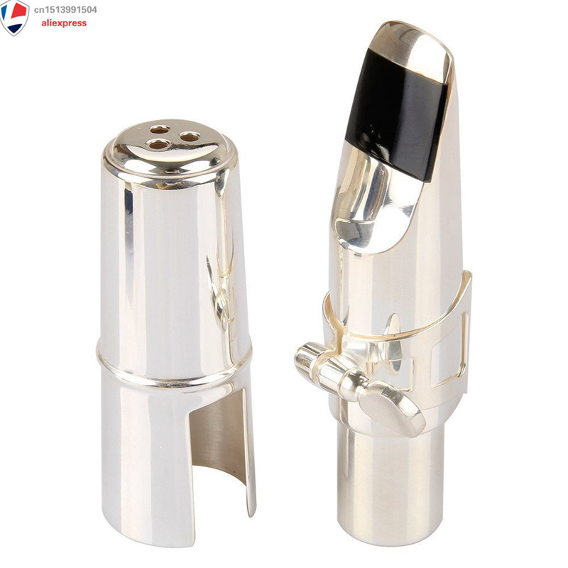 Private Custom Alto Sax Mouthpiece, Professional Size 7 Nickel Plated Metal Eb Alto Saxophone Mouthpiece with Cap + Ligature synthesis of wood eb alto saxophone mouthpiece page 8