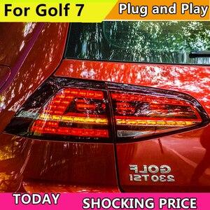 Image 1 - 폭스 바겐 골프를위한 자동차 스타일링 7 MK7 2013 2014 2015 2016 미등 동적 회전 신호 테일 라이트 리어 램프 + 브레이크 + 파크 + 신호