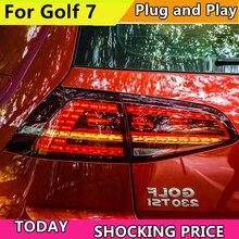 Araba Styling için Volkswagen Golf 7 MK7 2013 2014 2015 2016 arka lambası dinamik dönüş sinyali kuyruk işık arka lamba + fren + parkı + sinyal