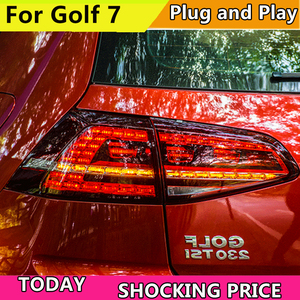 Image 1 - Car Styling For Volkswagen Golf 7 MK7 2013 2014 2015 2016 Taillight Dynamic Turn Signal Tail Light Rear Lamp+Brake+Park+Signal