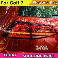 Car Styling For Volkswagen Golf 7 MK7 2013 2014 2015 2016 Taillight Dynamic Turn Signal Tail Light Rear Lamp+Brake+Park+Signal