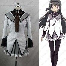 Anime Puella Magi Madoka Magica Akemi Homura Cosplay Costume Custom made