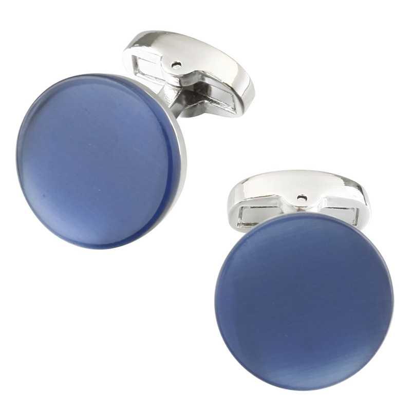 Memolissa Luxury High - end โอปอล Cufflinks ทองเงินสีฟ้าสีน้ำตาลสีเทาออกแบบ Mens ชาย Cufflink ของขวัญสำหรับชาย