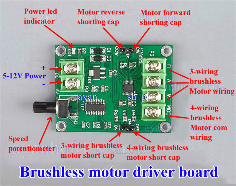 Buy 5v 12v Dc Brushless Motor Driver