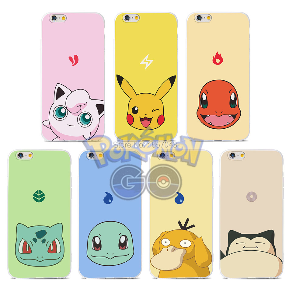Cute Cover For iPhone 5s Case Pocket Monsters Pokemons Pikachus Brand For iphone 5 5s SE 6 6s Plus Phone Cases TPU Soft Skin