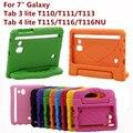 Противоударный Планшетный Back Case For Samsung Galaxy Tab 3 Lite 7.0 T110 T113 T116 T116NU Универсальный Защитный Рука Держатель Крышка подарки