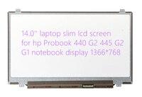 14.0 ''laptop slim lcd-scherm voor hp Probook 440 G2 445 G2 G1 notebook display 1366*768