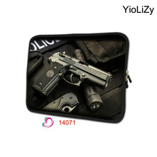 pistol print Laptop computer Bag 7 10 12 13 14 15 17 inch pill case Pocket book protecting sleeve cowl For Macbook Air Professional 13 15 NS-14071