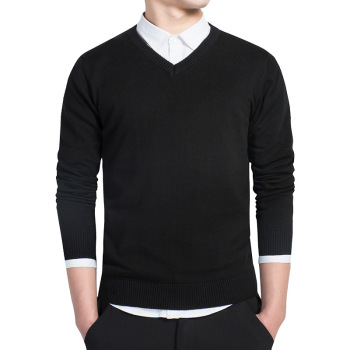 V Neck Slim Cotton Sweater