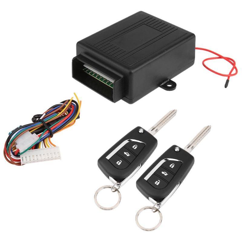 Universal Car Auto Kit Fechadura Da Porta de Bloqueio Central Controlo Remoto Sistema Keyless da Entrada Do Veículo Novo Com Controladores Remotos de Alarme de Carro Quente