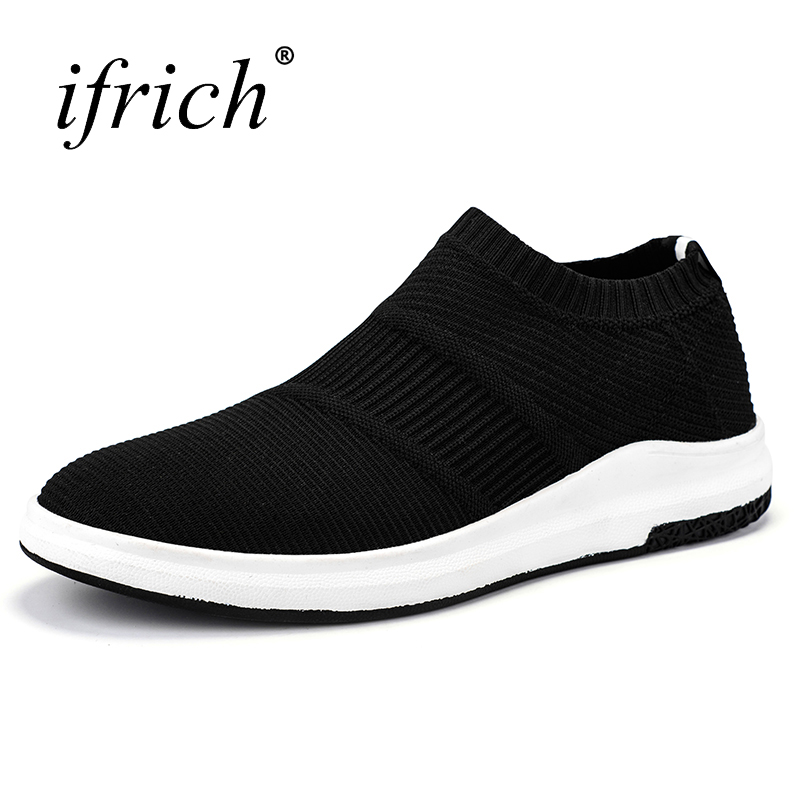 Sneakers for Men 2018 Spring Summer Walking Shoes Mesh Breathable Mens Sneakers Black Breathable Gym Trainers