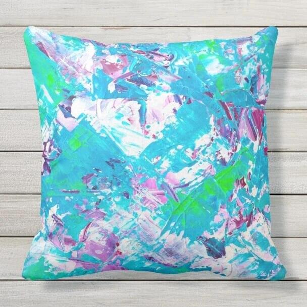 Modern Teal Decorative Throw Pillow  from ae01.alicdn.com