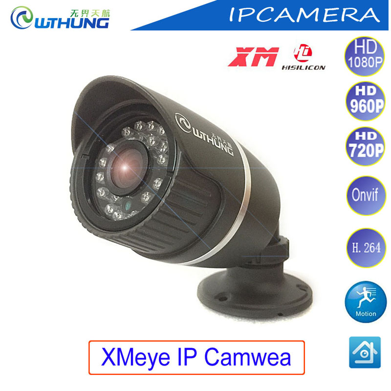 Wthung XMeye IP Camera HD720P 960P 1080P CMOS P2P ONVIF Metal Bullet outdoor waterproof IR CUT night vision CCTV security Camera wistino cctv bullet ip camera xmeye waterproof outdoor 720p 960p 1080p home surverillance security video monitor night vision
