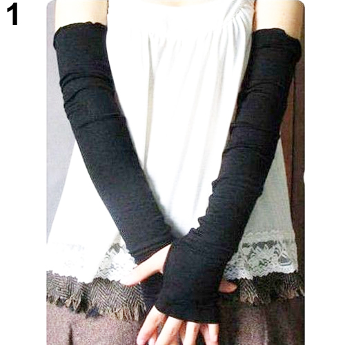 New Fashion Hot Womens Cotton Uv Protection Arm Warmer Long Fingerless Long Gloves Sleeves Retail/wholesale 5bsg 7ewo Women's Arm Warmers Women's Accessories