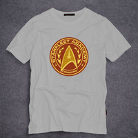 Summer Short Sleeve T Shirts Star Trek Starfleet Academy Command T Shirt Men S Summer O
