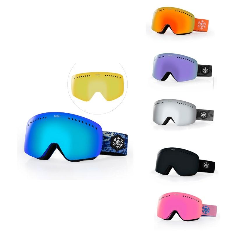 Здесь можно купить  Ski Goggles Double Layers UV400 Anti-fog Big Ski Mask Glasses Skiing Men Women  Спорт и развлечения