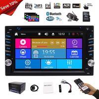 Автомобильный аудио магнитофон плеер стерео радио 2 Din автомобиль DVD видео плеер Bluetooth gps навигатор карта USB SD + бесплатная резервная камера