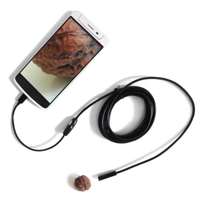 """7 מ""""מ עדשת USB אנדרואיד אנדוסקופ מצלמה 1 m 1.5 m 2 m 3.5 m 5 m Waterproof נחש צינור מיקרו USB OTG פיקוח Borescope אנדוסקופ מכונית"""