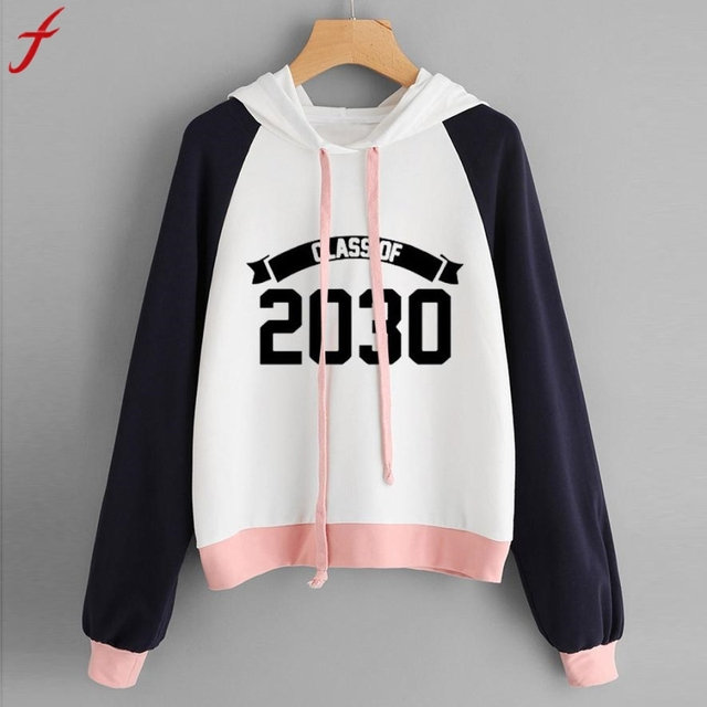 310995ac03ab33 Women hoodies sweatshirts Plus size Raglan Hoodie Print 2030 Sweatshirt  Long Sleeve Pullover Tops sweatshirt crop top Tumblr
