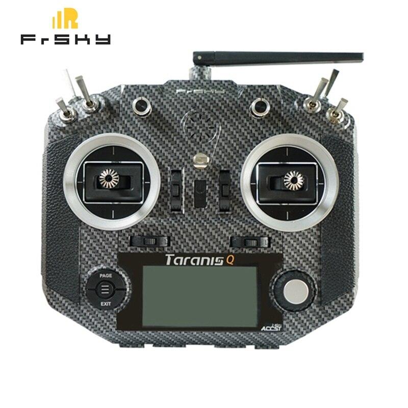 Frsky 2.4G 16CH ACCST Taranis Q X7S Carbon Fiber Water Transfer Transmitter Remote Mode 2 M7 Gimbal EVA Bag for Camera Drone FPV