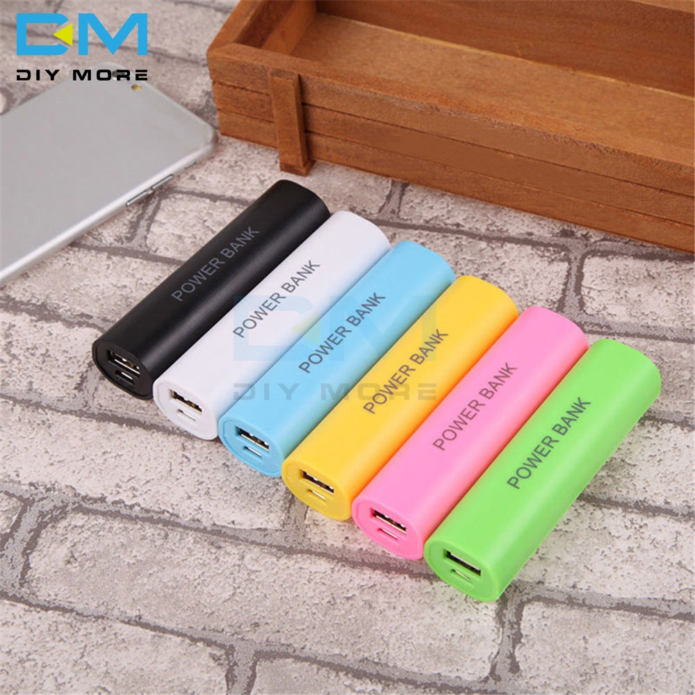 1x18650 USB Mobile Power Bank Battery Charger Case DIY Box For Cell Phone For 18650 Batteries Candy Color DC 5V