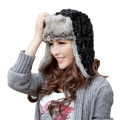 Hot Sale Bomber Hats Ushanka Russian Hat Fur Winter Hats sports snow outdoor aviator ear flaps cap for women with equins Hats