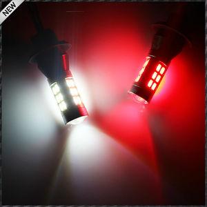 Image 3 - 2 sztuk 21 SMD biały/czerwony podwójny kolor 7440 7444 T20 zapasowe żarówki LED do samochodu dodatkowe światła cofania i tylna lampa przeciwmgłowa konwersji