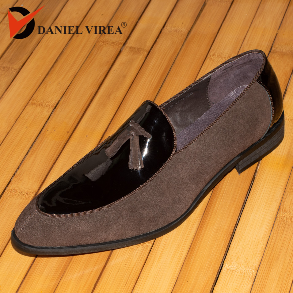 daniel virea Leather and Suede Leather Men Wedding Party Shoes Men s Banquet Loafers b271 13
