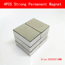 4pcs 30x20x10mm N35 Rare Earth Super Strong Permanent Magnet Cuboid Block plating Nickel Neodymium