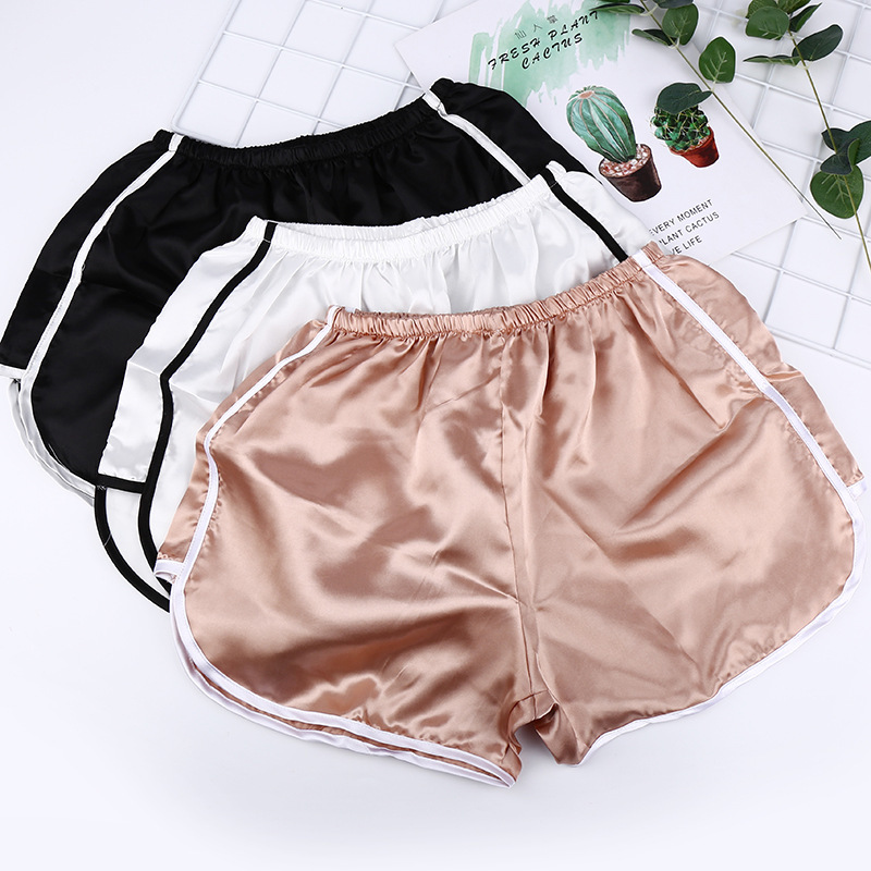 Brief Relate Summer Women Casual Shorts Durable Shorts Fashion Female White Edge Design Rose Gold White Black 3 Colors(China)