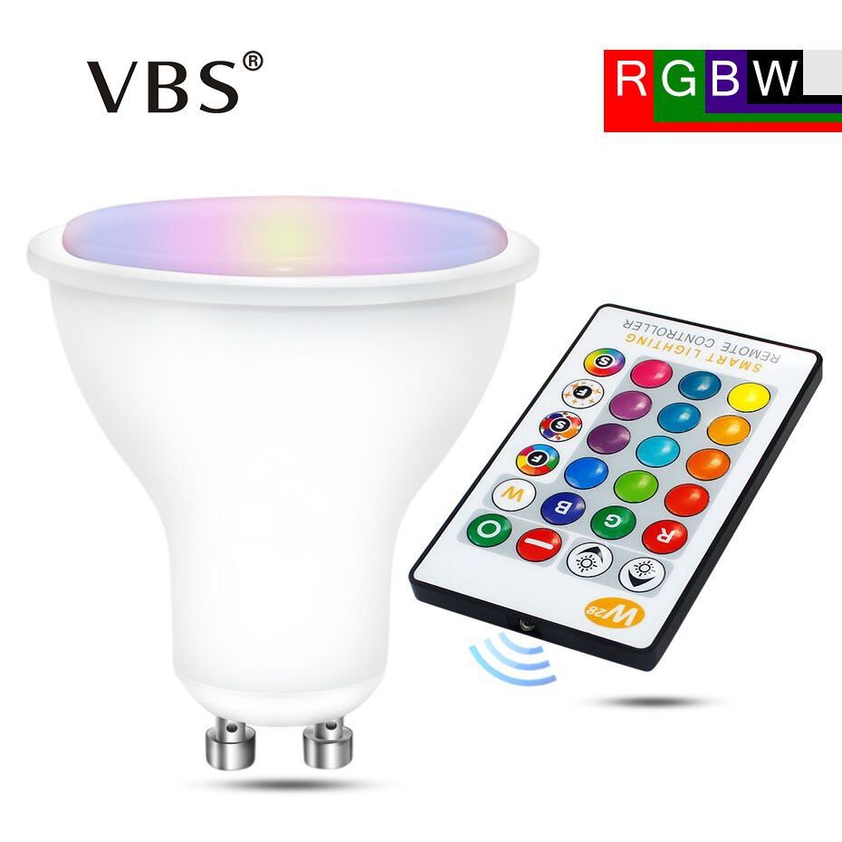 8w GU10 16 Colors Changeable RGBW RGBWW  Lampada LED 110v 220v Spotlight With Remote Control Dimmer Holiday Decor Home Lighting